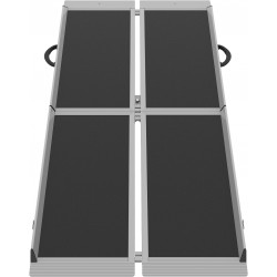 Mobil-rampen med sort skridsikkerbelægning BDR