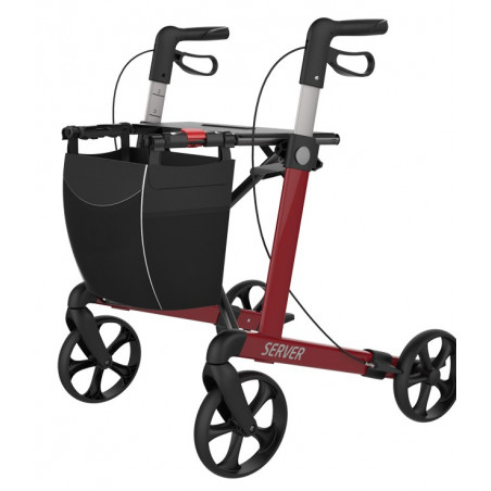 Server rollator med soft hjul