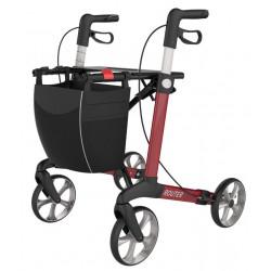 ROUTER – Lækker aluminiums rollator i rød