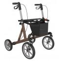 Rollator Explorer i brun med store hjul