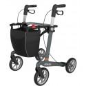 Grå ATHLON SL rollator med soft hjul
