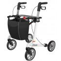 Hvid ATHLON SL rollator med soft hjul