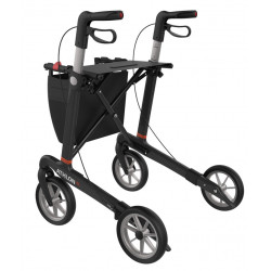 ATHLON SL rollator med soft hjul venstre bag side