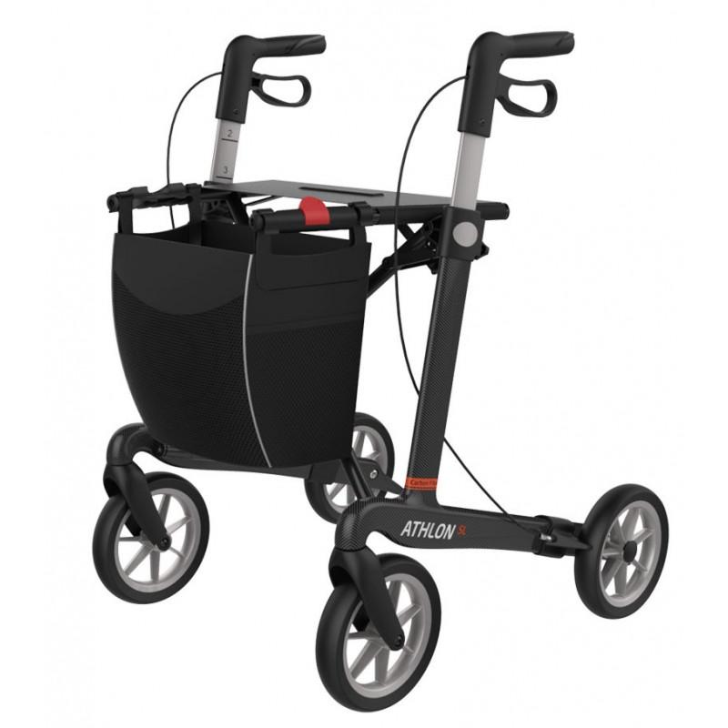 ATHLON SL rollator med soft hjul set fra venstre side