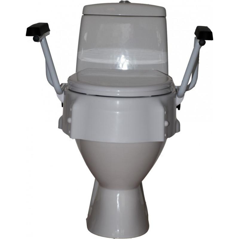 toiletforhoejer, fastmonteret