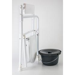 bad- og toiletstol, sammenklappelig