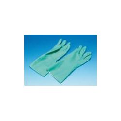 gummihandske til paa og aftagning af stoettestroempe