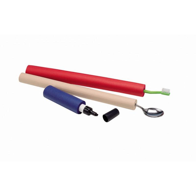 Greb til blyanter, tandboerste og andet, ekstra tykkelse og laengde