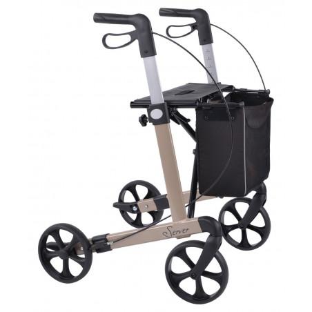 Server rollator med soft hjul