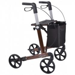 SimpleCare Letvægts rollator pakke tilbud brun